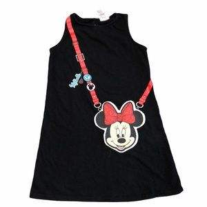 Minnie Mouse Black Tank Top Dress with Graphics